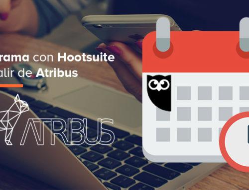 Programa en redes sociales con tu cuenta de Hootsuite sin salir de Atribus