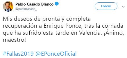 Segundo Tweet fallas 2019