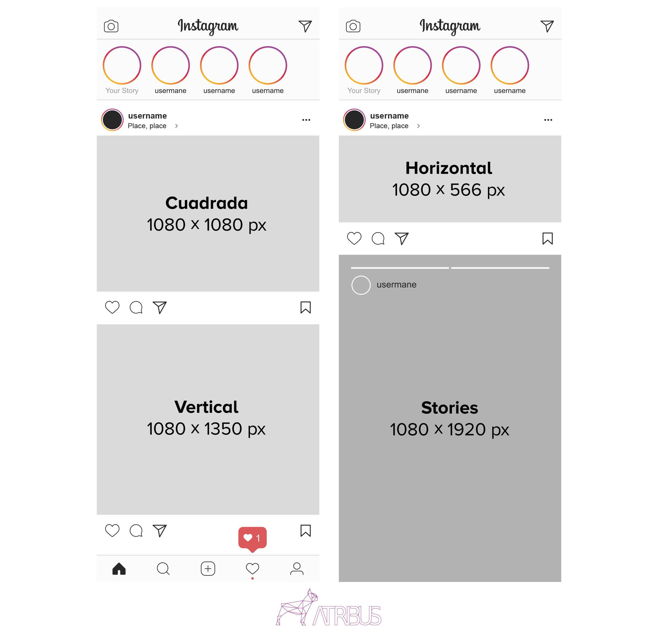 Guí tamaño de imágenes en Instagram 2019
