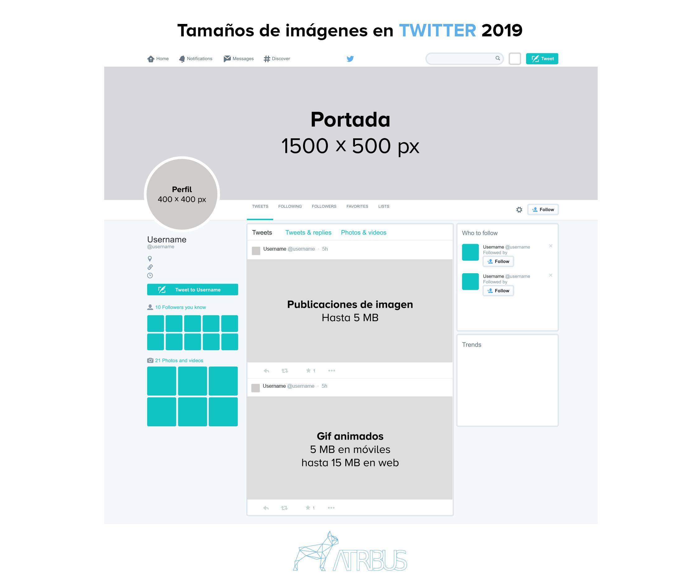 Guía Tamaño de Imágenes en Twitter 2019